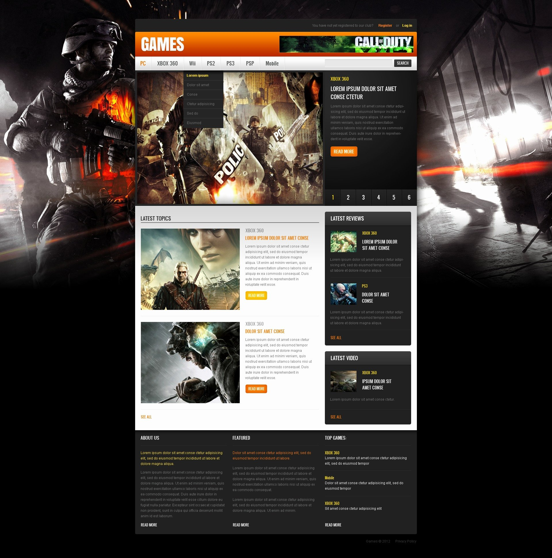 Free Gaming Website Template Unique Game Portal Website Template