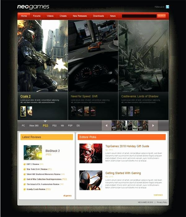Free Gaming Website Template Unique Games Template by Download Gaming Website Templates Free