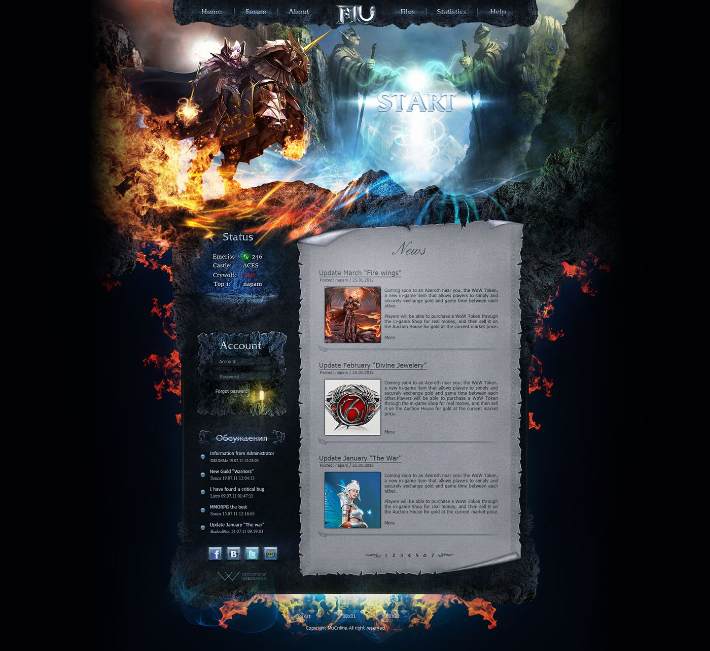 Free Gaming Website Template Unique Knight Game Website Template