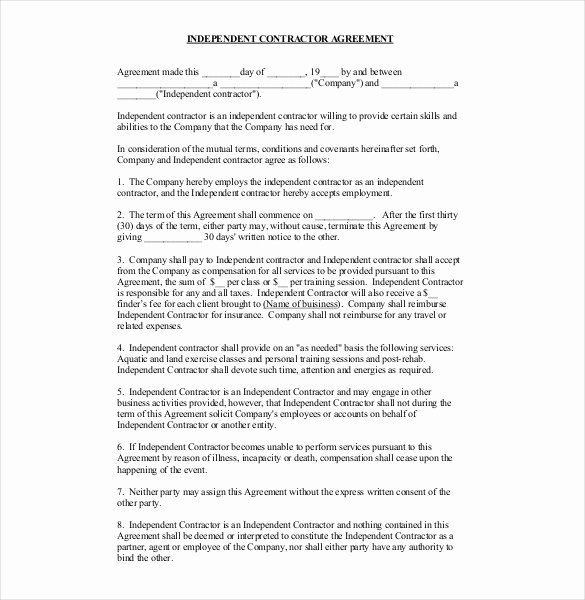 Free General Contractor Agreement Template Lovely Contractor Agreement Template – 22 Free Word Pdf Apple