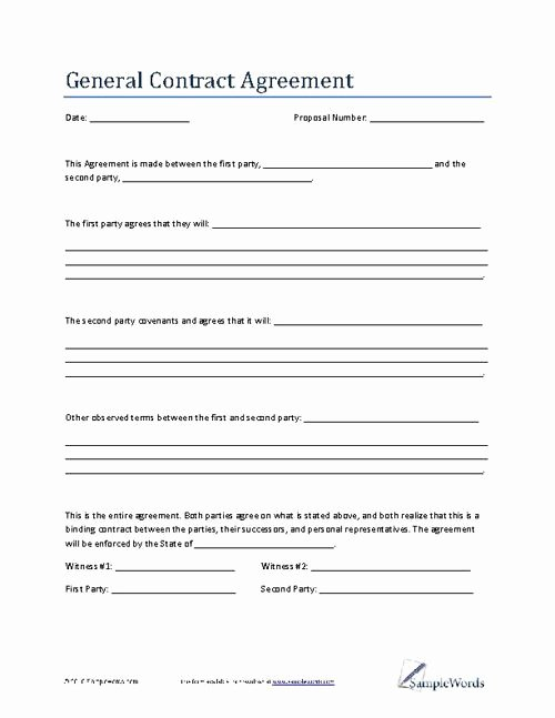 Free General Contractor Agreement Template Unique 25 Best Contract Agreement Ideas On Pinterest