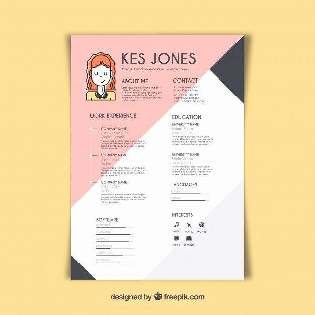 Free Graphic Design Template Awesome Graphic Designer Resume Template Vector