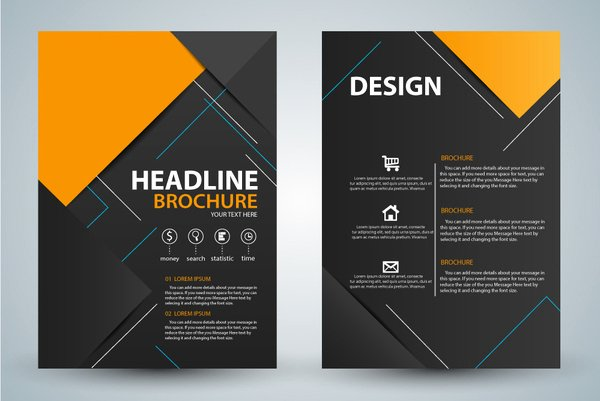 Free Graphic Design Template Awesome Modern Brochure Background Design Free Vector