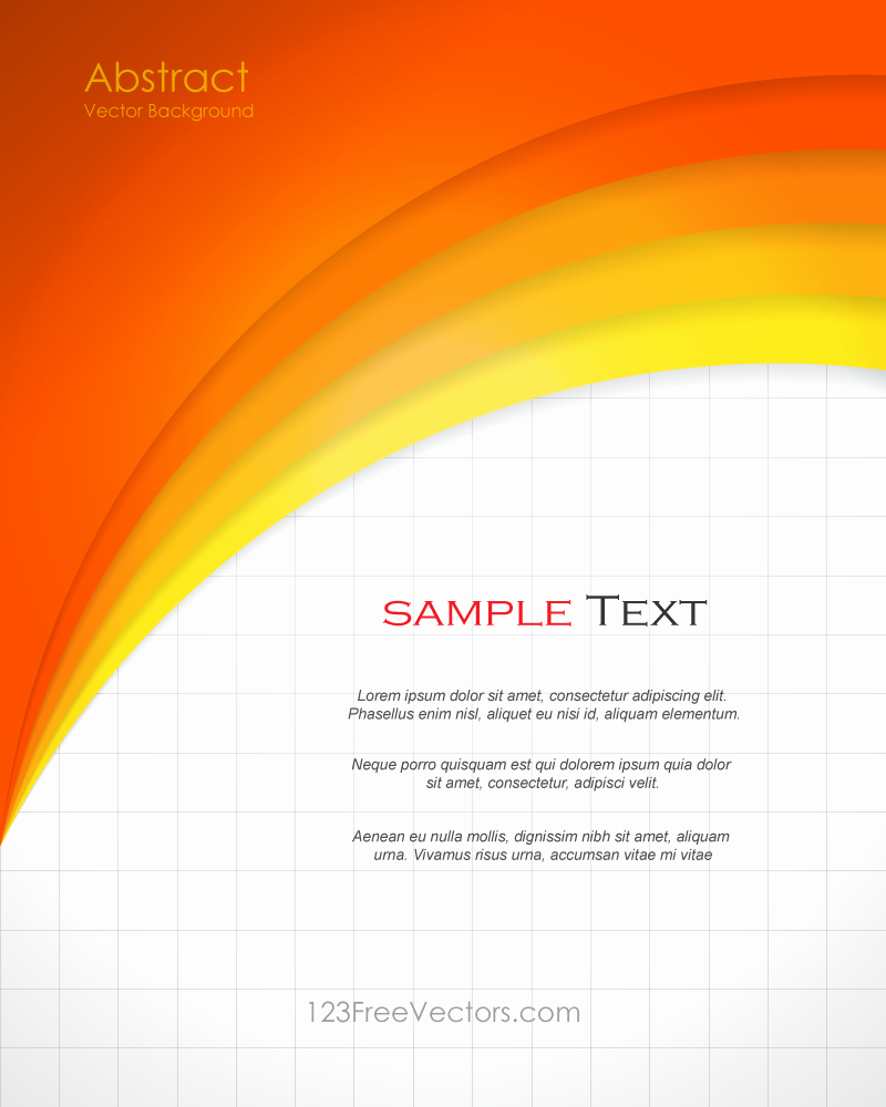 Free Graphic Design Template Beautiful Abstract orange Background Template Vector Design In 2019