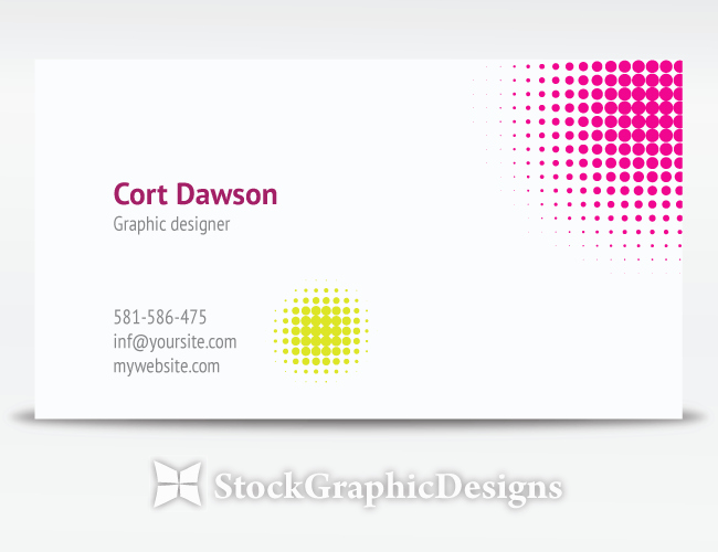 Free Graphic Design Template Beautiful Designer Business Card Vector