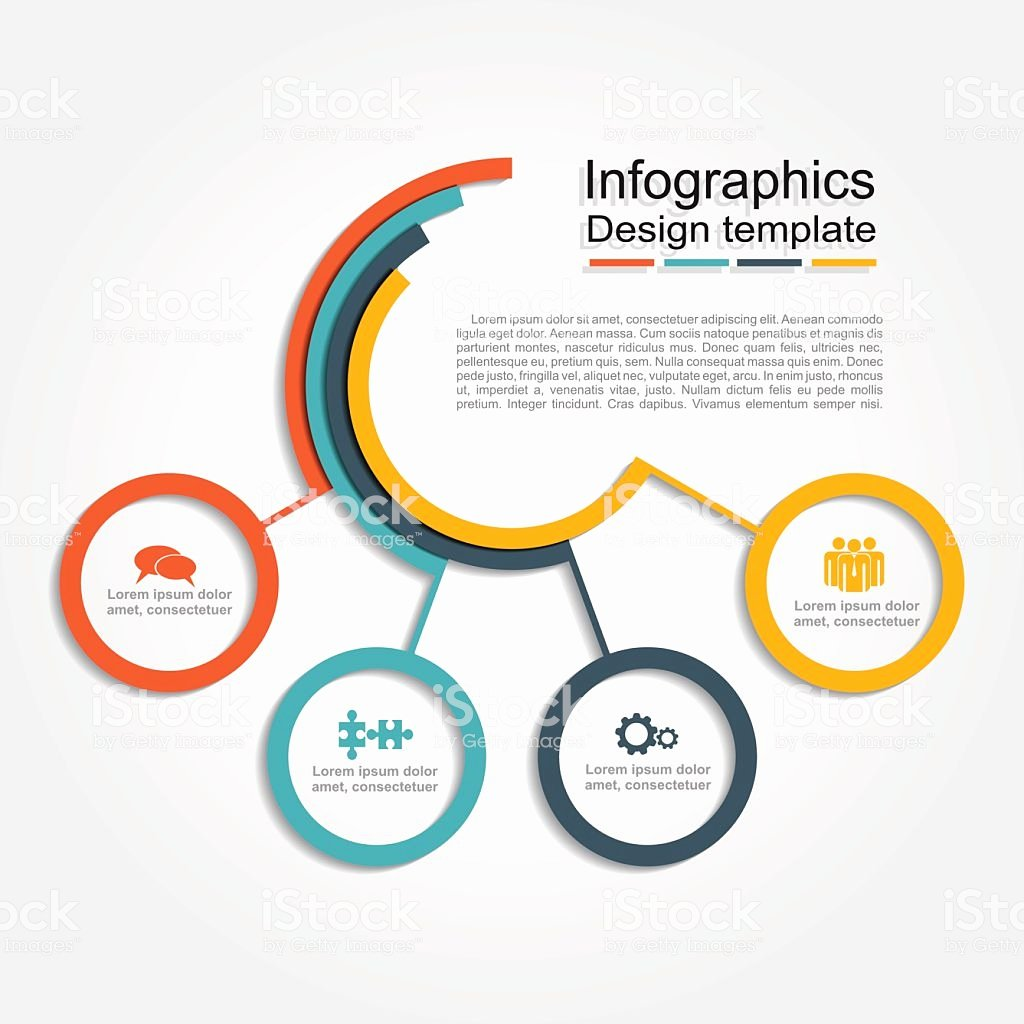 Free Graphic Design Template Beautiful Infographic Design Template Vector Illustration Stock