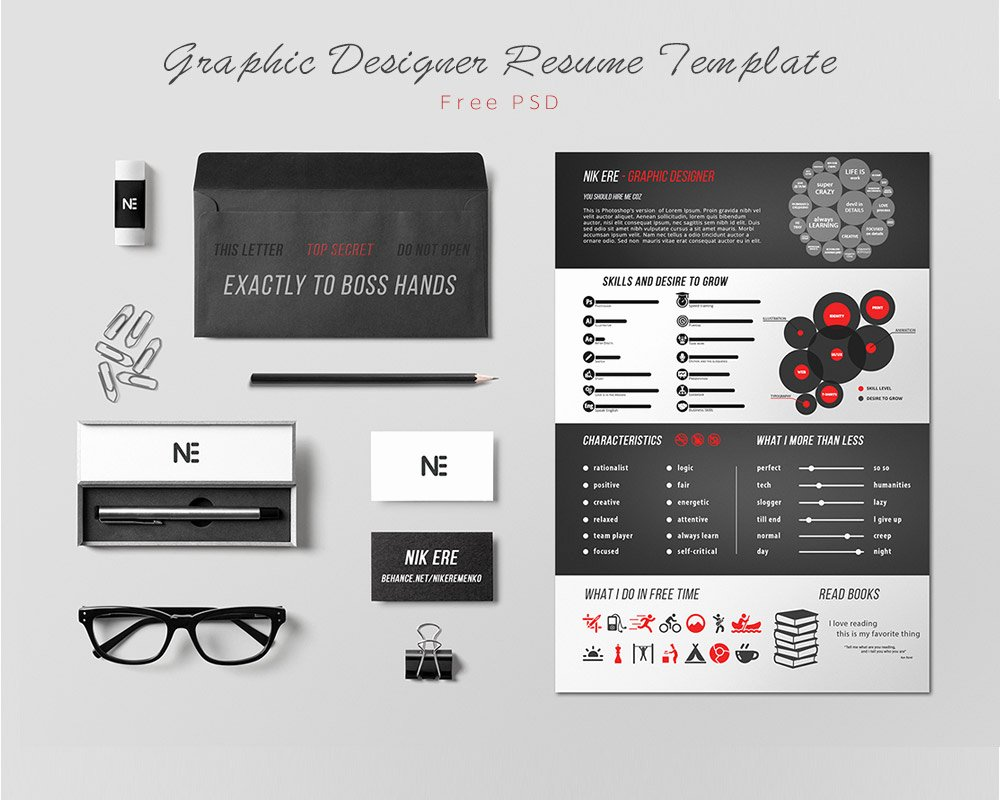 Free Graphic Design Template Fresh 25 Best Free Resume Cv Templates Psd Download