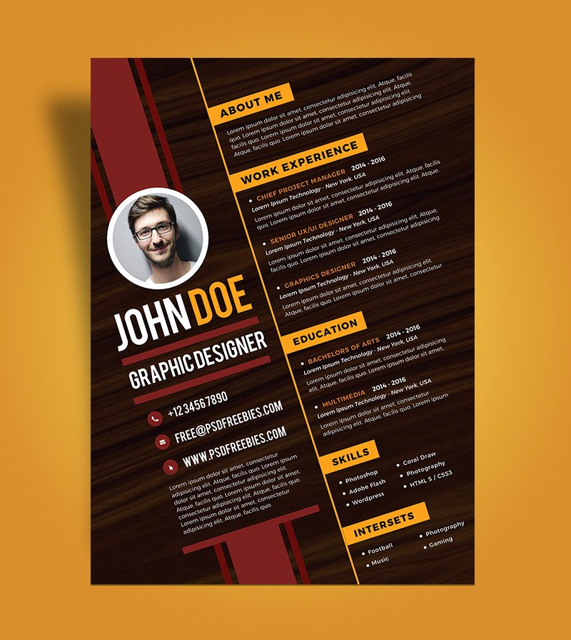 Free Graphic Design Template Inspirational Free Creative Resume Design Template for Graphic Designer