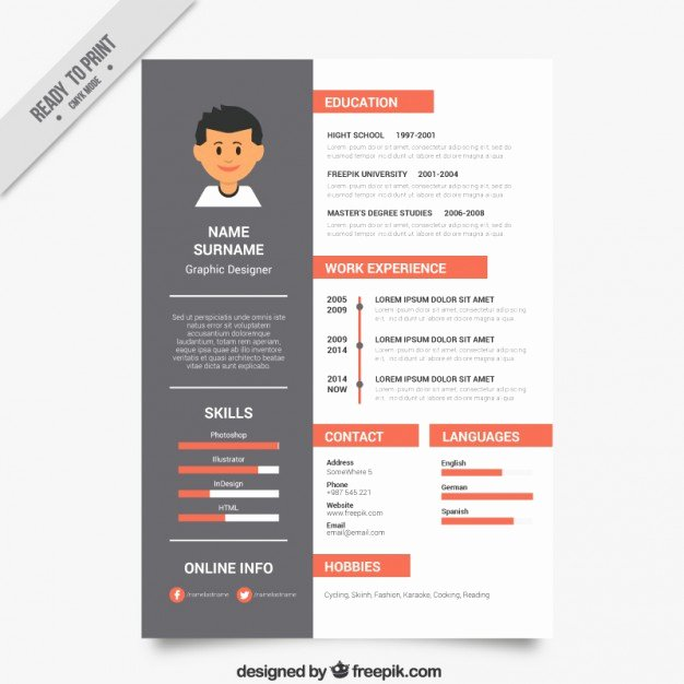 Free Graphic Design Template Inspirational Graphic Designer Resume Template Vector