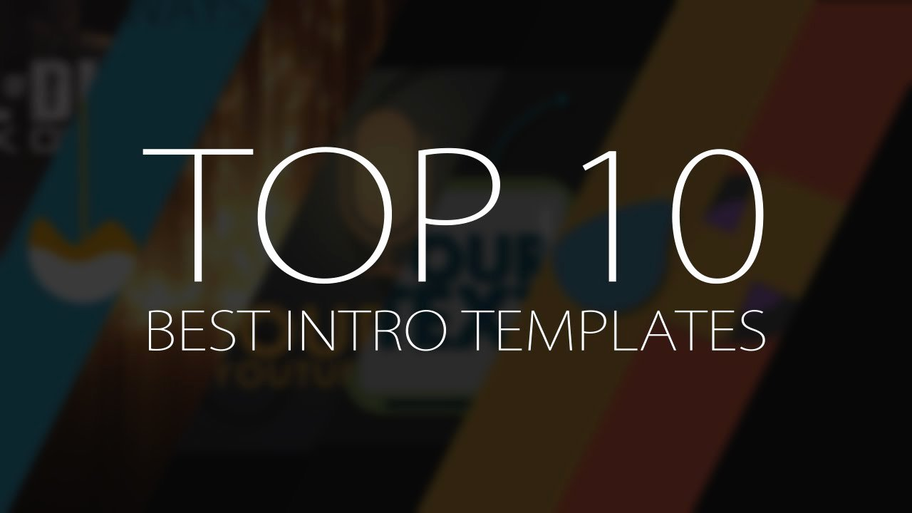 Free Graphic Design Template Inspirational top 10 Best Motion Graphics Intro Templates April 2017