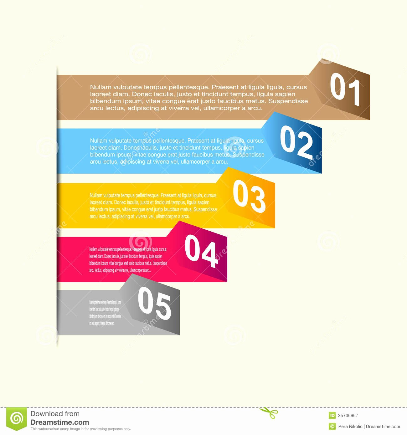 Free Graphic Design Template Lovely Business Step Paper and Numbers Design Template Stock