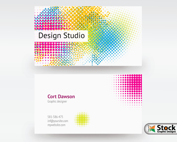 Free Graphic Design Template Lovely Designer Business Card Vector
