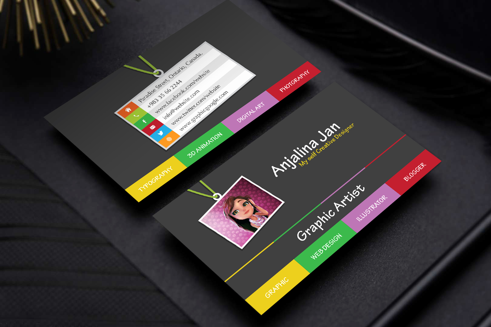 Free Graphic Design Template Luxury Free Graphic Artist Business Card Template Design