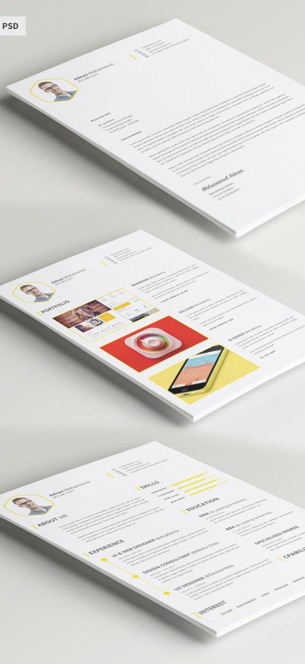 Free Graphic Design Template Luxury Free Modern Resume Templates & Psd Mockups