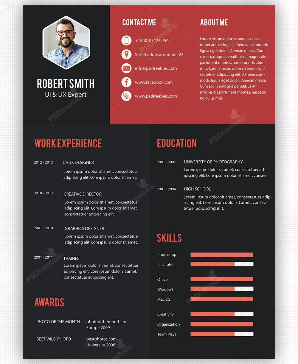Free Graphic Design Template Luxury Graphic Designer Resume Template Cv Psd Freenload Indesign