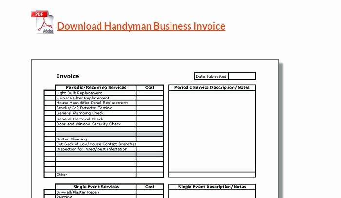 Free Handyman Invoice Template Elegant Handyman Price List Pdf – Yourinterestingblogub
