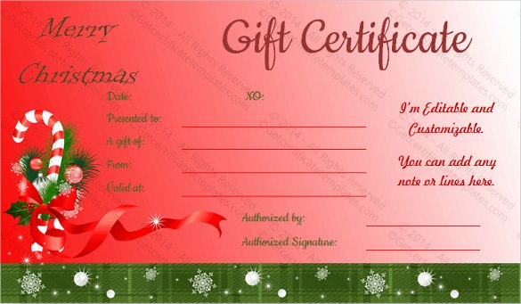 Free Holiday Gift Certificate Template Beautiful 23 Holiday Gift Certificate Templates Psd