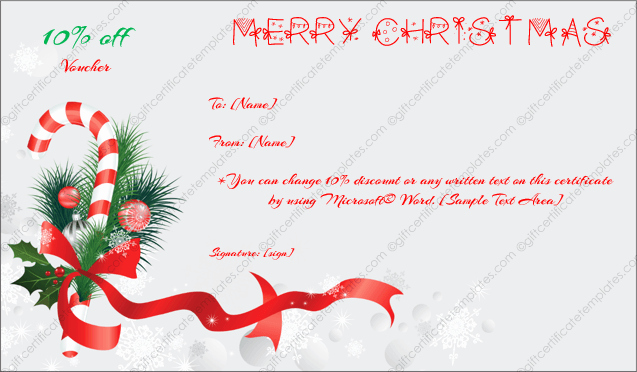 Free Holiday Gift Certificate Template Beautiful Christmas Gift Certificate Template 6 Gift Template