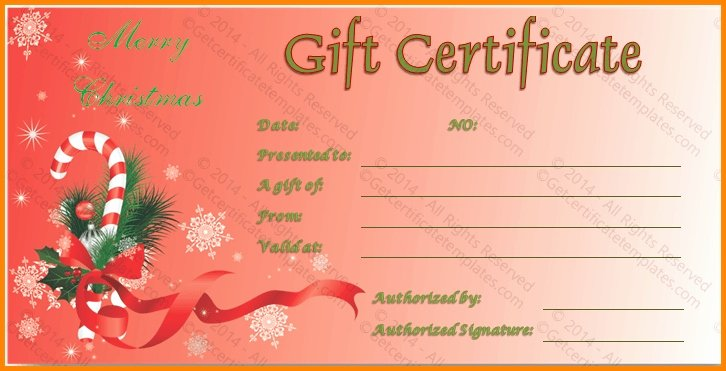 Free Holiday Gift Certificate Template Best Of Christmas Gift Certificates Templates Free Invitation