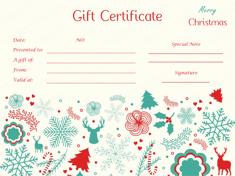 Free Holiday Gift Certificate Template Elegant Delicate Christmas Gift Certificate Template Tvoucher