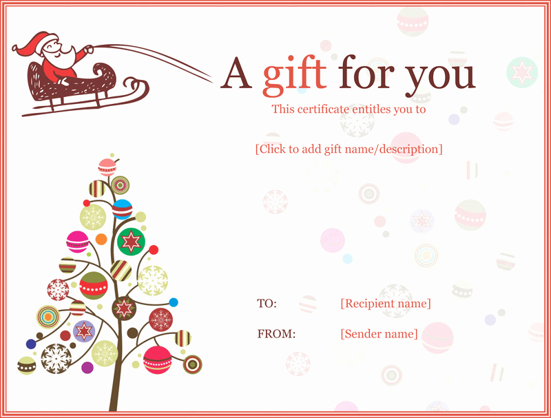 Free Holiday Gift Certificate Template Elegant Jolly Simple Christmas Gift Certificate Template