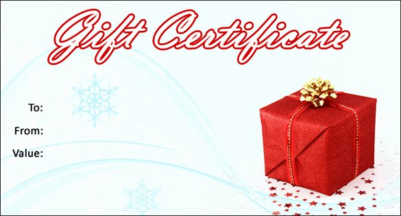 Free Holiday Gift Certificate Template Inspirational 20 Christmas Gift Certificate Templates Word Pdf Psd