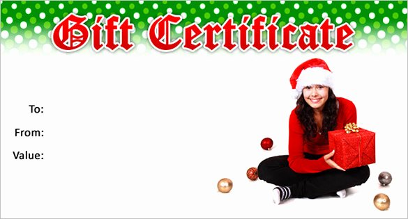 Free Holiday Gift Certificate Template Lovely 20 Christmas Gift Certificate Templates Word Pdf Psd