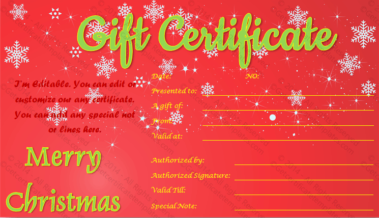 Free Holiday Gift Certificate Template Lovely Show Twinkles Christmas Gift Certificate Template