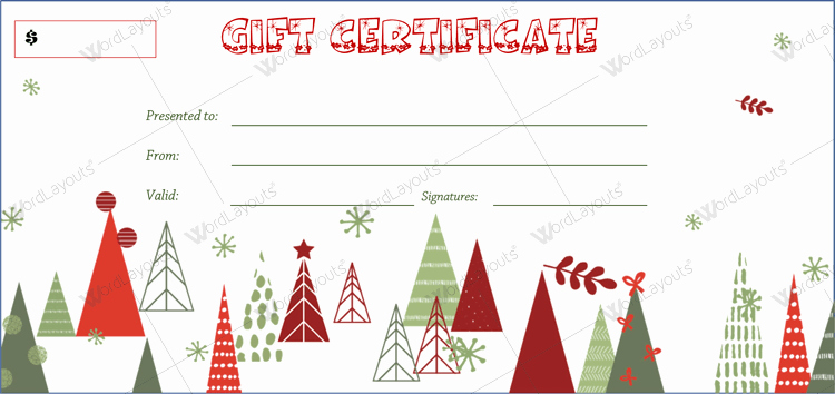 Free Holiday Gift Certificate Template Luxury 20 Awesome Christmas Gift Certificate Templates to End 2017