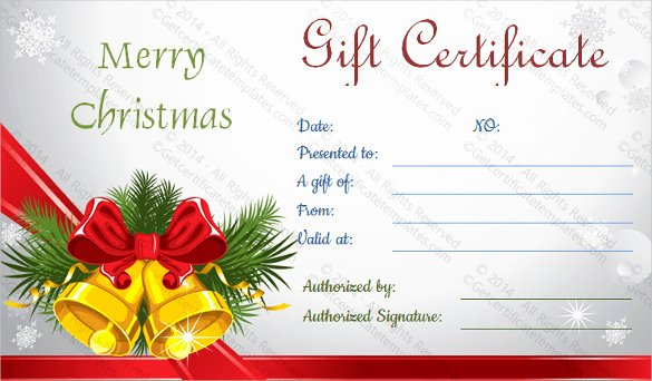 Free Holiday Gift Certificate Template Luxury 23 Holiday Gift Certificate Templates Psd