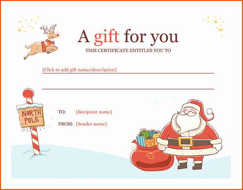 Free Holiday Gift Certificate Template Luxury 6 Microsoft Word Christmas Templates Bookletemplate