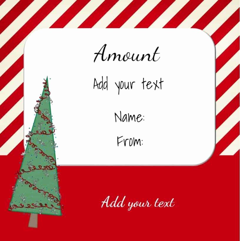 Free Holiday Gift Certificate Template New Free Christmas Gift Certificate Template