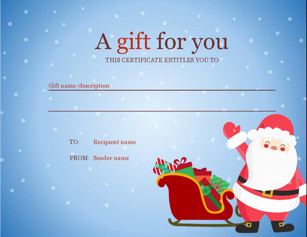 Free Holiday Gift Certificate Template Unique Christmas Fice