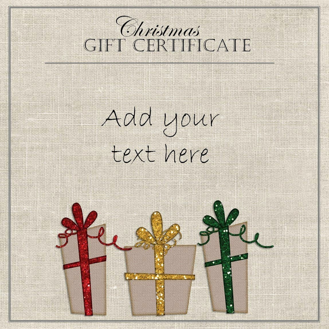 Free Holiday Gift Certificate Template Unique Free Christmas Gift Certificate Template