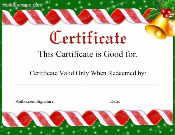 Free Holiday Gift Certificate Template Unique Gift Certificate Template Free Holidaymapq