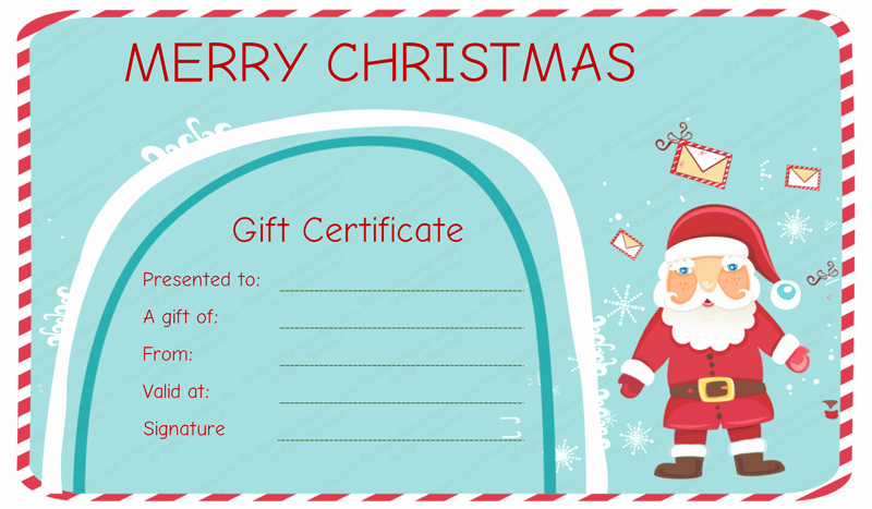 Christmas Gift Certificate Template Free.Free Holiday Gift Certificate Template Beautiful 23 Holiday