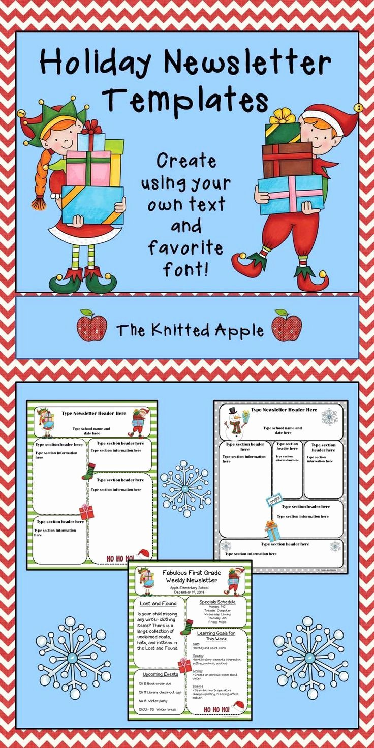 Free Holiday Newsletter Template Awesome Best 25 Preschool Newsletter Ideas On Pinterest