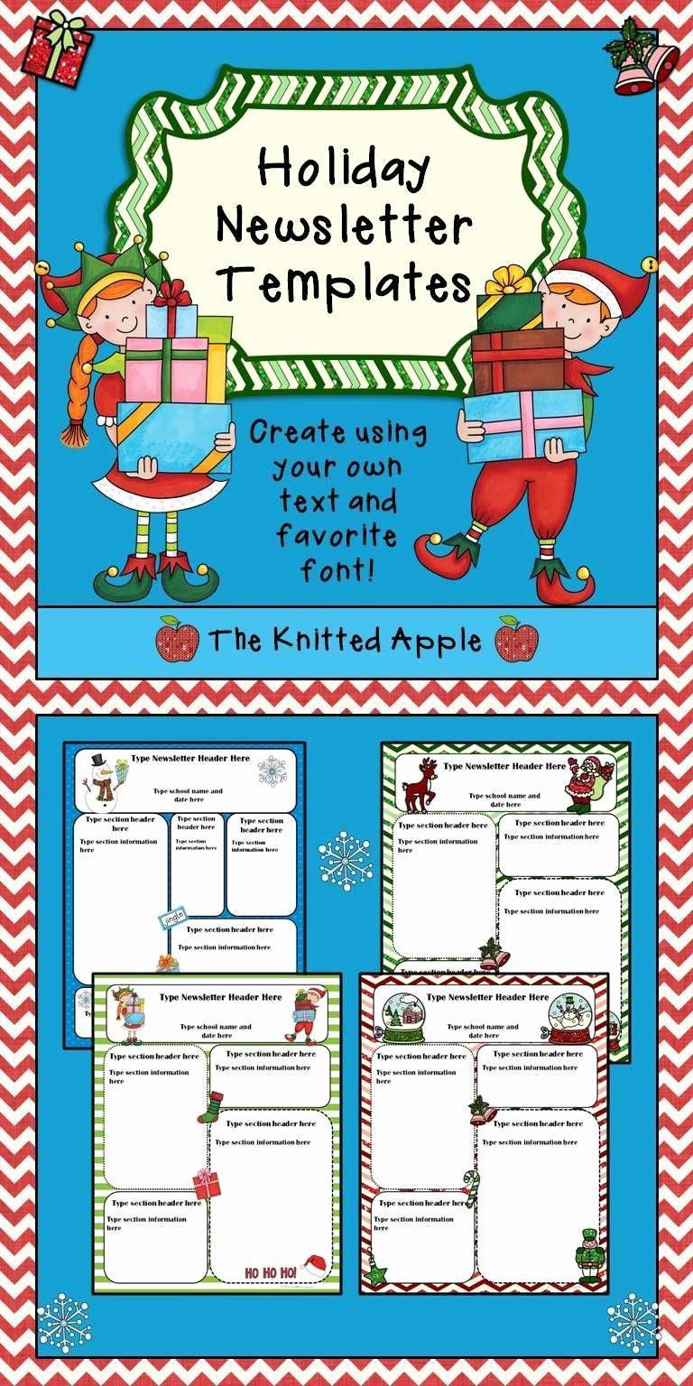 Free Holiday Newsletter Template Awesome Free Newsletter Templates In Festive Holiday themes