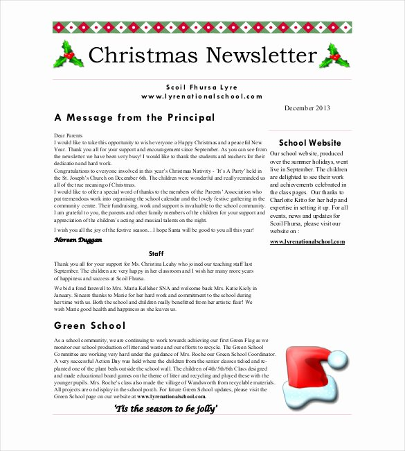 Free Holiday Newsletter Template Beautiful Christmas Newsletter Template – 8 Psd Pdf formats