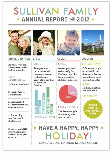Free Holiday Newsletter Template Beautiful Family Holiday Newsletter Templates Christmas Letters