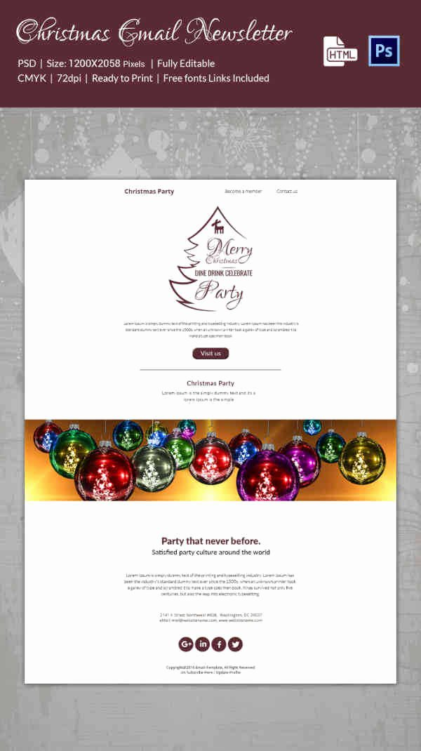 Free Holiday Newsletter Template Best Of 38 Christmas Email Newsletter Templates Free Psd Eps