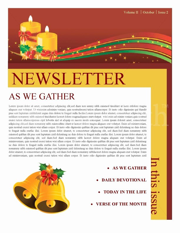 Free Holiday Newsletter Template Best Of Christmas Newsletter Template