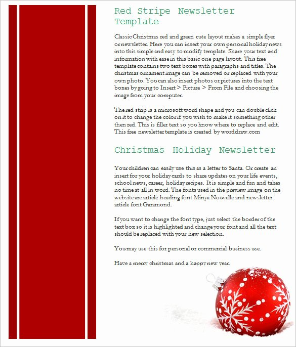 Free Holiday Newsletter Template Elegant 27 Christmas Newsletter Templates Free Psd Eps Ai