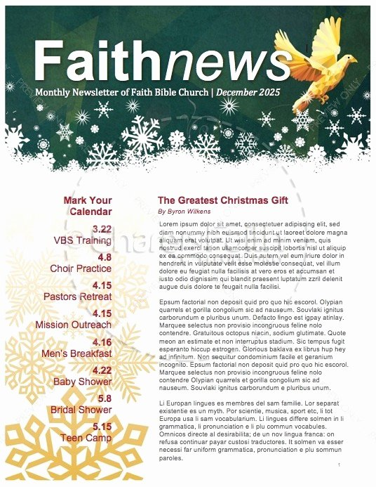 Free Holiday Newsletter Template Elegant 5 Free Christmas Newsletter Templates for Church