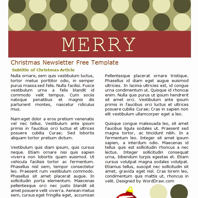 Free Holiday Newsletter Template Elegant 7 Free Christmas Letter Templates and Ideas