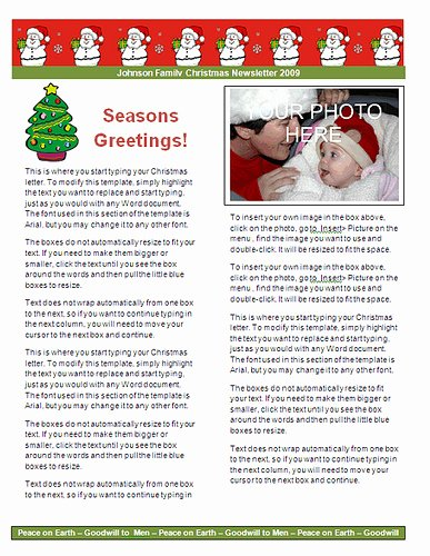 Free Holiday Newsletter Template Elegant Ms Word Christmas Letter Templates Christmas Letter Paper