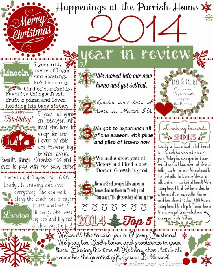 Free Holiday Newsletter Template Inspirational 17 Best Ideas About Christmas Letters On Pinterest