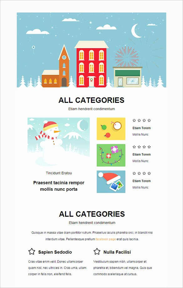 Free Holiday Newsletter Template Inspirational 38 Christmas Email Newsletter Templates Free Psd Eps