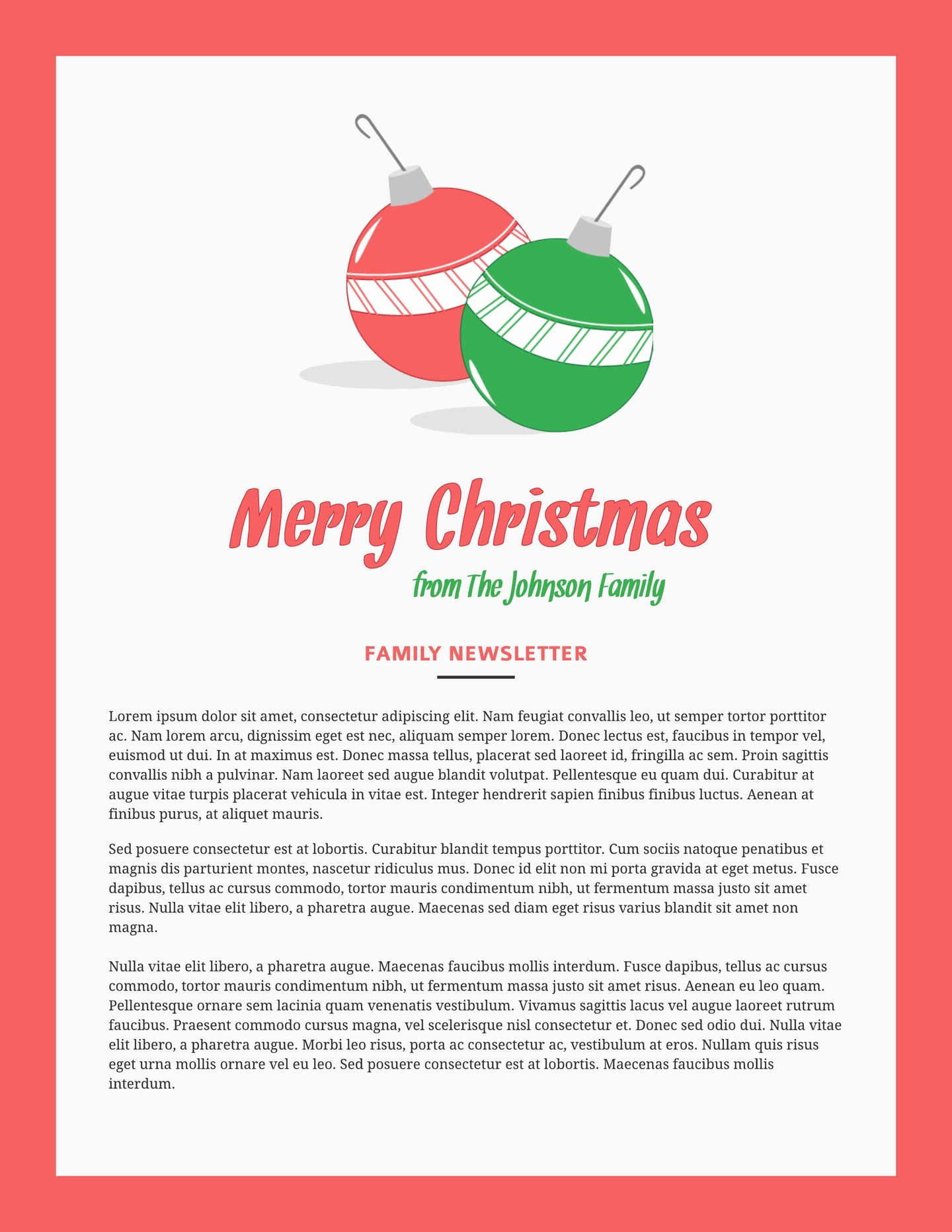 Free Holiday Newsletter Template Inspirational 6 Free Christmas Templates & Examples Lucidpress
