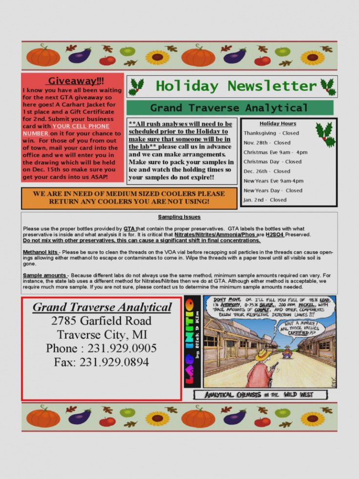 Free Holiday Newsletter Template Inspirational Free Holiday Newsletter Template Unique Of Free Holiday